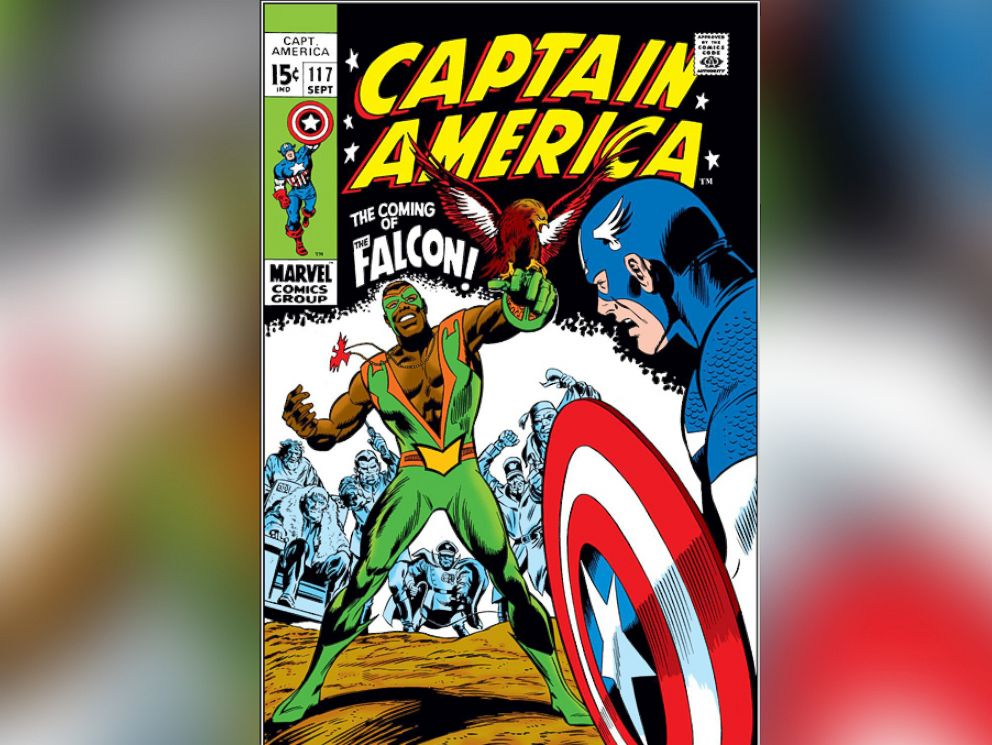 PHOTO: In 1968, we get our first look of The Falcon in Captain America #117. Now, we know all these years later that Falcon eventually takes over and becomes the new Captain America.