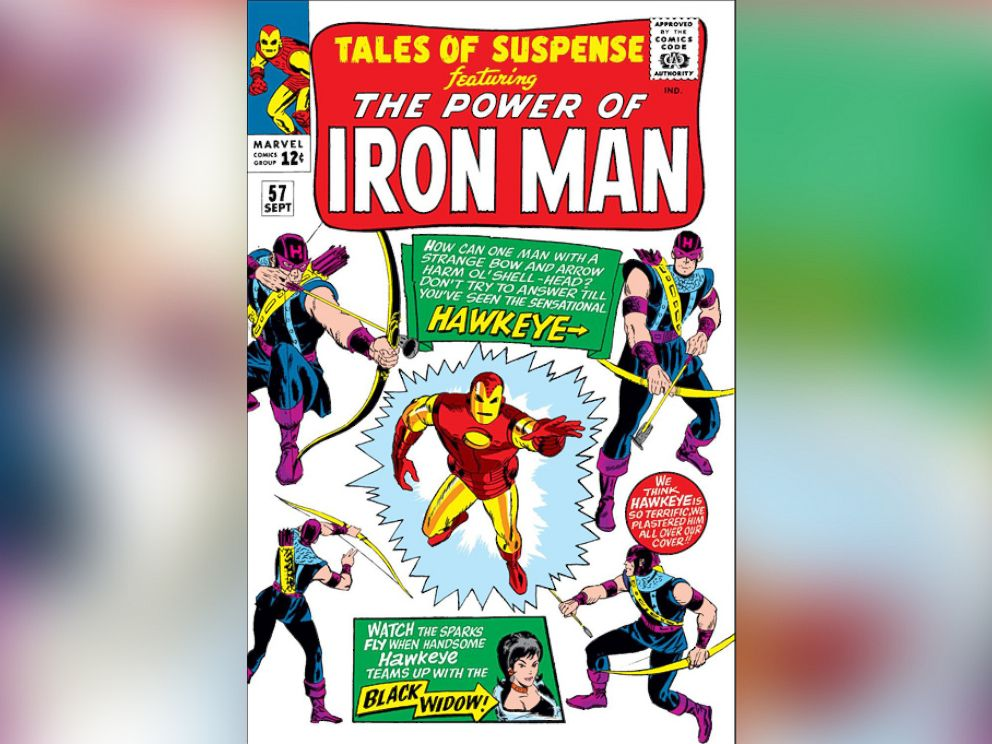 PHOTO: Hawkeye was first introduced to the Marvel Universe as a villain to Iron Man in Tales of Suspense #57 in 1964 before teaming up with Black Widow and later the Avengers.