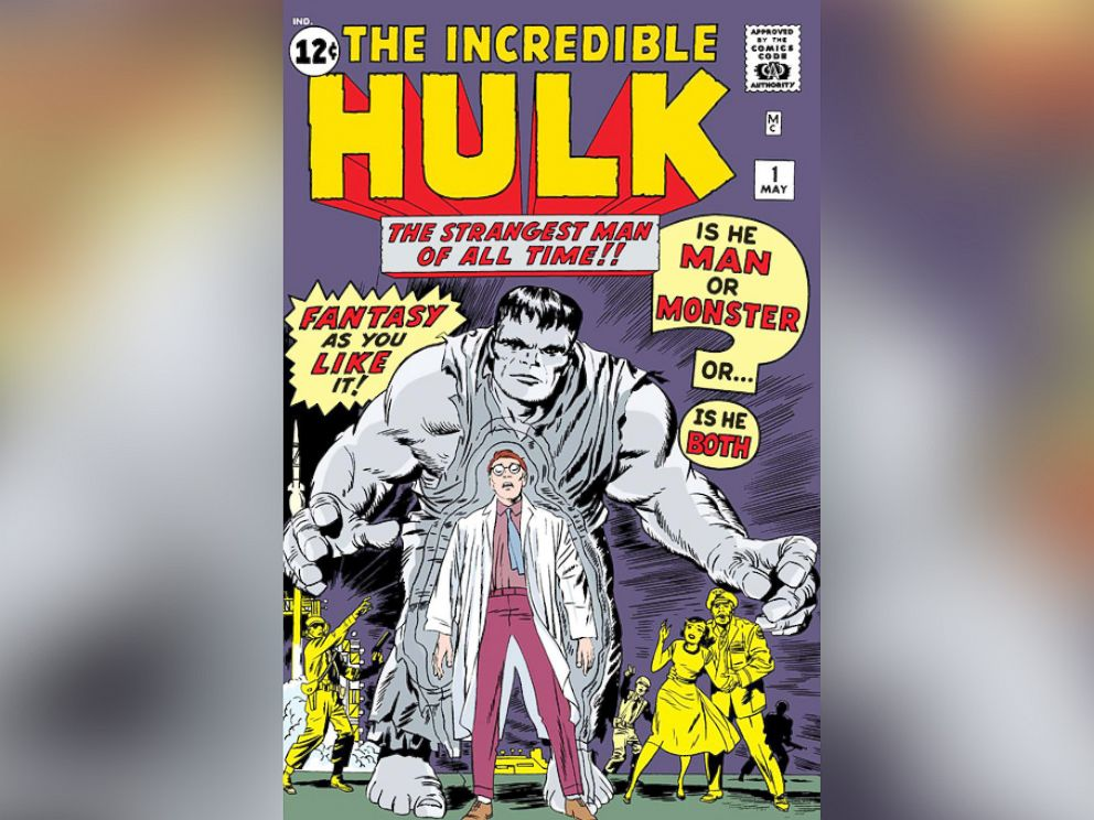 PHOTO: After getting blasted with gamma radiation, Dr. Bruce Banner first transformed in The Incredible Hulk in 1962.