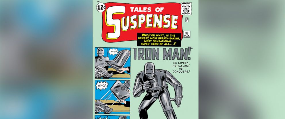"""PHOTO: Long before Robert Downey Jr. took on the role of Tony Iron Man Stark, the metal man changed the face of comics forever by debuting in """"Tales of Suspense #39"""" in 1959."""