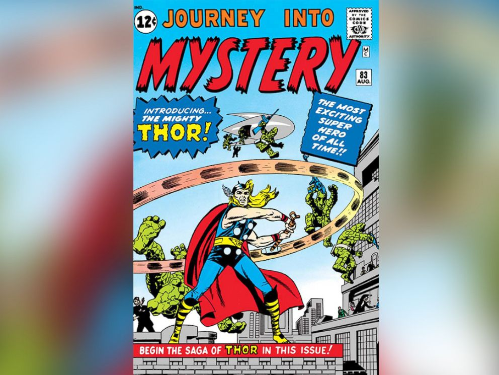 PHOTO: The Asgardian god of thunder, Thor swung his mighty hammer for Marvel comics in 1952 appearing in Journey Into Mystery.