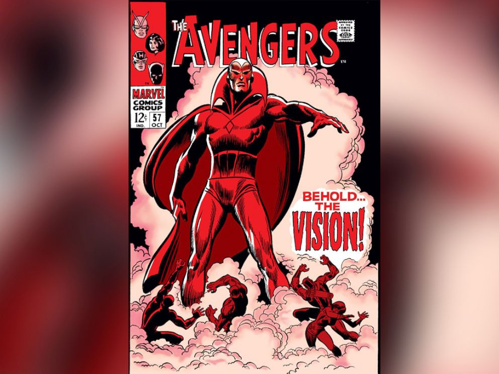 PHOTO: Created by the villain Ultron as an android to destroy the Avengers team, Vision made his first appearance on The Avenegers #57.