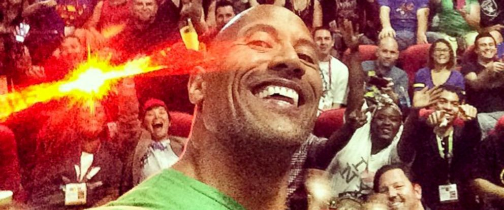 PHOTO: Dwayne Johnson surprised fans at Comic Con in Dan Diego, July 24, 2014.