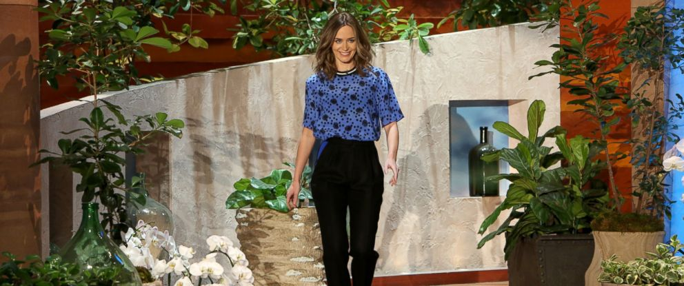 """PHOTO: """"Edge of Tomorrow"""" actress and new mom Emily Blunt makes an appearance on """"The Ellen DeGeneres Show,"""" May 14, 2014."""