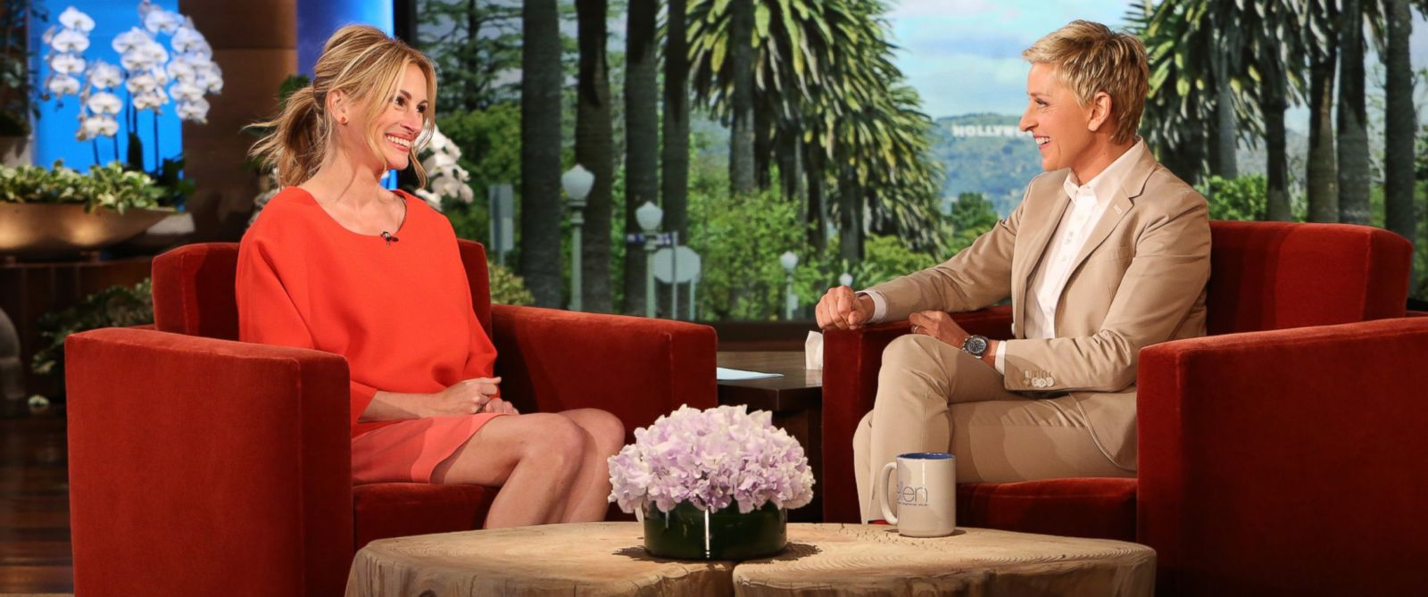 """PHOTO: Julia Roberts makes an appearance on """"The Ellen DeGeneres Show,"""" May 7th, 2014."""
