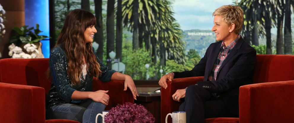 """PHOTO: """"Glee"""" actress Lea Michele makes an appearance on the """"The Ellen DeGeneres Show,"""" March 19, 2014."""