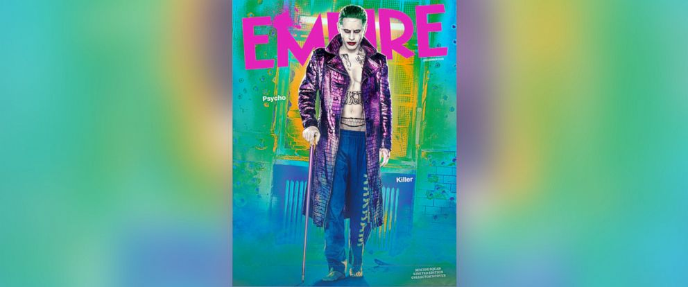 """PHOTO: Jared Leto in full costume as his """"Suicide Squad"""" character Joker on the cover of Empire."""
