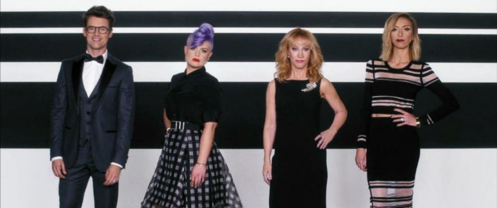 "PHOTO: Brad Goreski, Kelly Osbourne, Kathy Griffin, and Giuliana Rancic appear in the new ""Fashion Police"" promo video."