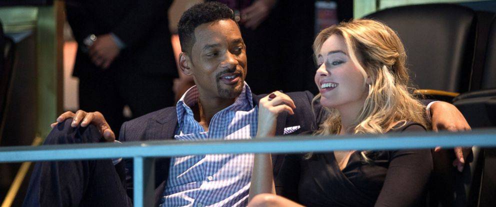 "PHOTO: Will Smith as Nicky and Margot Robbie as Jess in ""Focus."""
