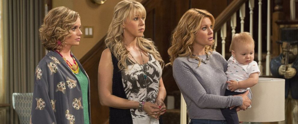 "PHOTO:Andrea Barber, Jodie Sweetin, and Candace Cameron Bure appear in a scene from Netflixs ""Fuller House."""