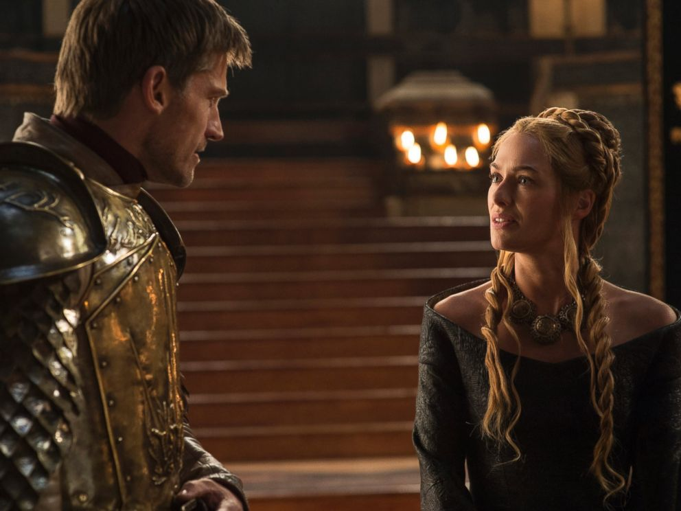 PHOTO: Nikolaj Coster-Waldau as Jaime Lannister, left, and Lena Headey as Cersei Lannister in a scene from season five of Game of Thrones.