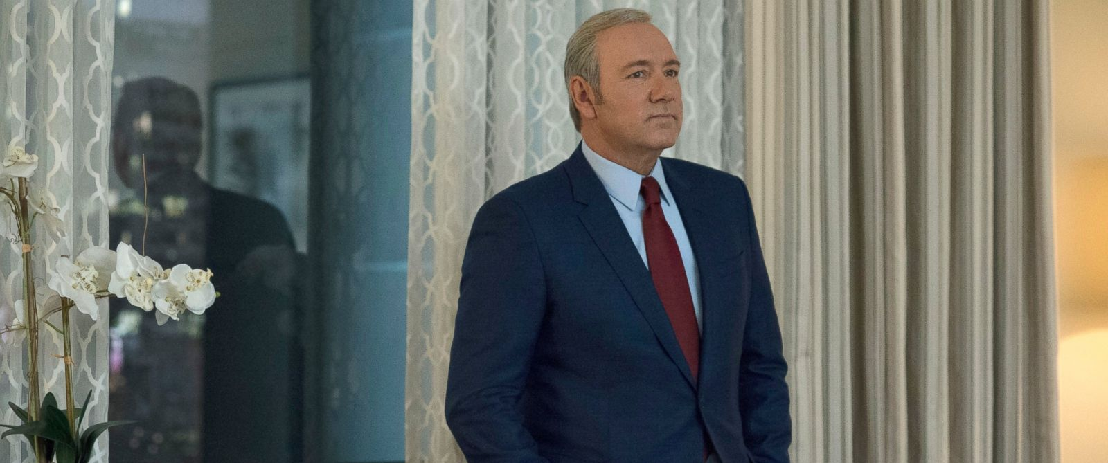 "PHOTO: Kevin Spacey in a scene from season 4 of ""House of Cards."""