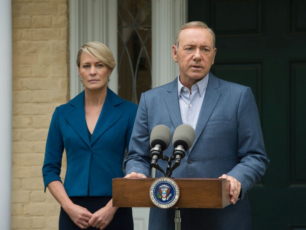PHOTO:Robin Wright as Claire Underwood and Kevin Spacey as Frank Underwood in a scene from House of Cards.