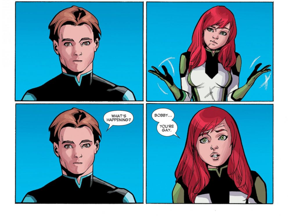 PHOTO: Original X-Men member Iceman comes out as gay in newest issue of the All New X-Men #40.