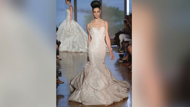 PHOTO: A model walks the runway at the Ines Di Santo Fall 2014 Bridal collection show