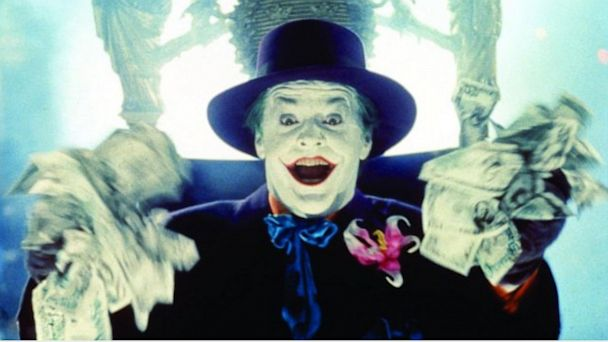 "PHOTO: Jack Nicholson appears as The Joker from the movie ""Batman."""