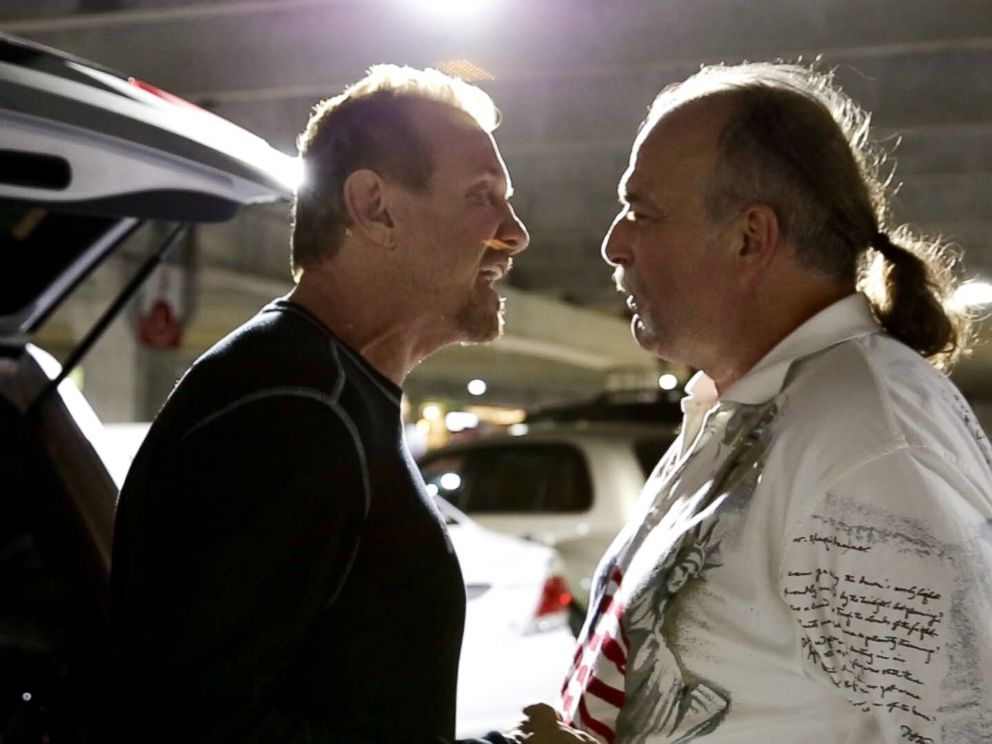 PHOTO: Jake the Snake Roberts is seen with Diamond Dallas Page in the Documentary The Resurrection of the Jake The Snake.