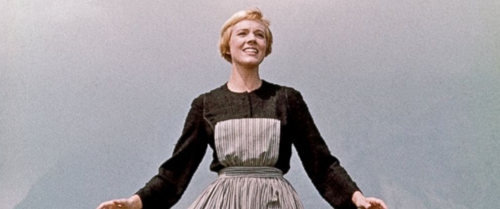 "PHOTO: Julie Andrews plays Maria in a scene from the 1965 film ""The Sound of Music."""