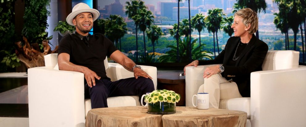 """PHOTO: Actor Jussie Smollett of """"Empire"""" opens up about his personal life in a rare one-on-one interview with Ellen DeGeneres."""