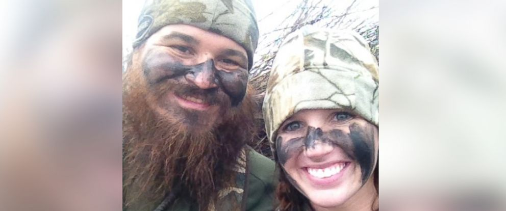 PHOTO: Duck Dynasty star Justin Martin, left, and fiancée Brittany Brugman are seen in this undated file photo.