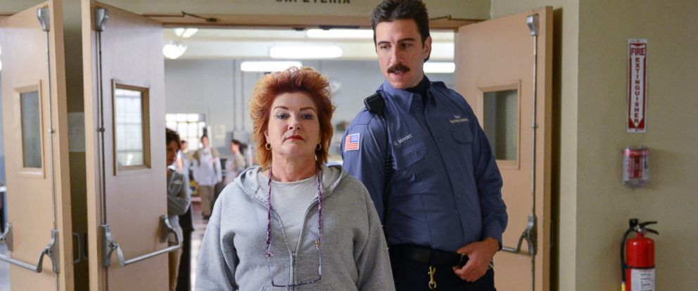 """PHOTO: Kate Mulgrew and Pablo Schreiber in a scene from Netflixs """"??Orange is the New Black"""" Season 2."""