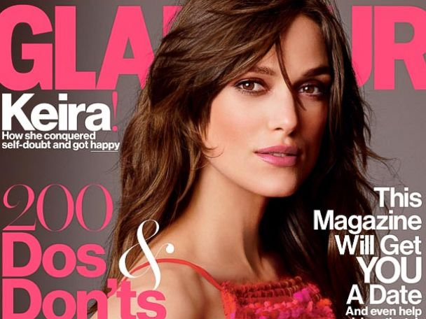 PHOTO: Keira Knightley, on the cover of the July 2014 issue of Glamour.