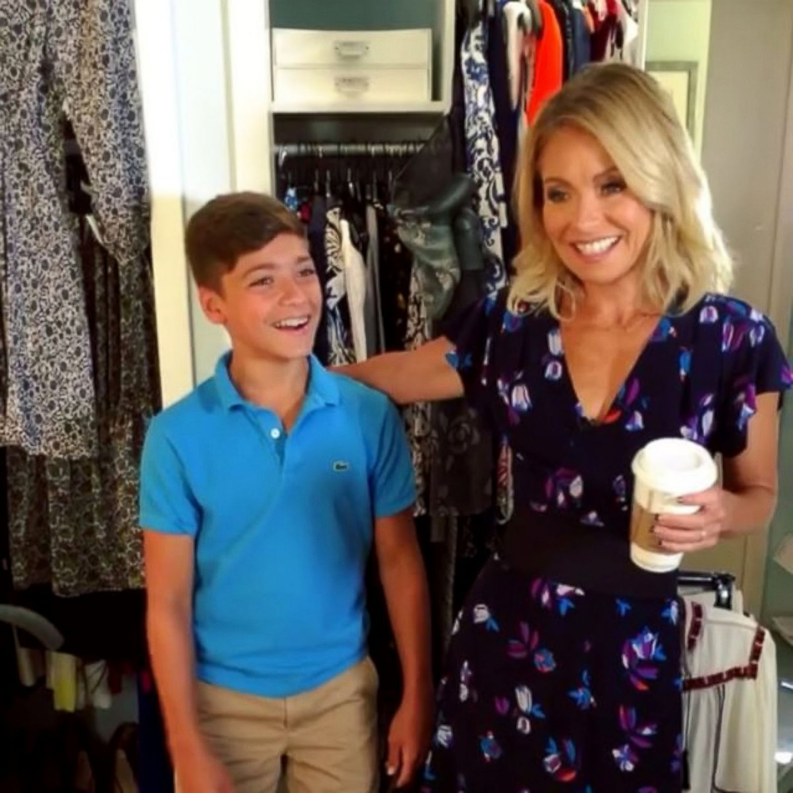 Kelly Ripa Goofs Around With Her Son Joaquin Picture