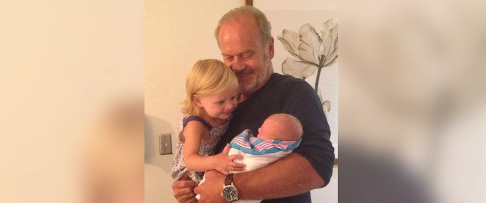 PHOTO: Kelsey Grammer introduces his daughter Faith to his newborn son Gabriel. The actor welcomed his new baby earlier this week.