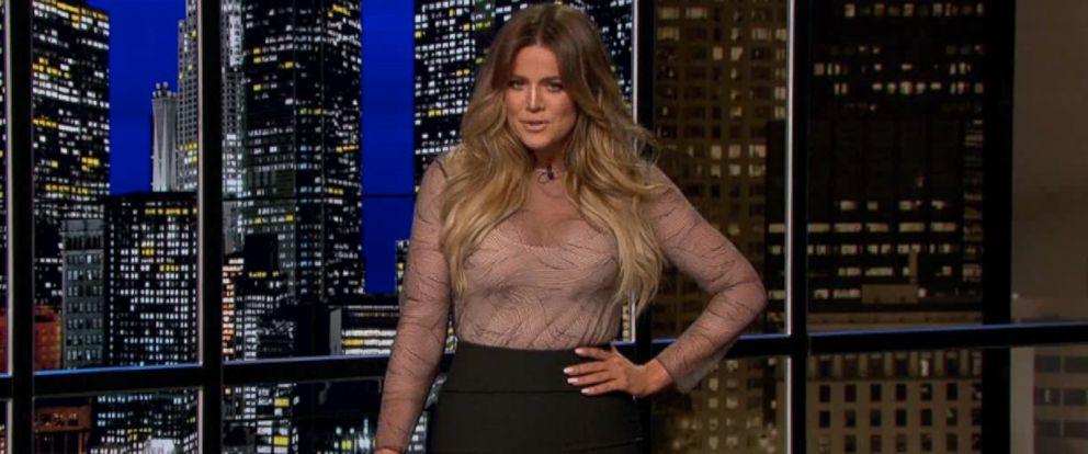 "PHOTO: Khloe Kardashian guest hosts an episode of ""Chelsea Lately,"" April 21, 2014."