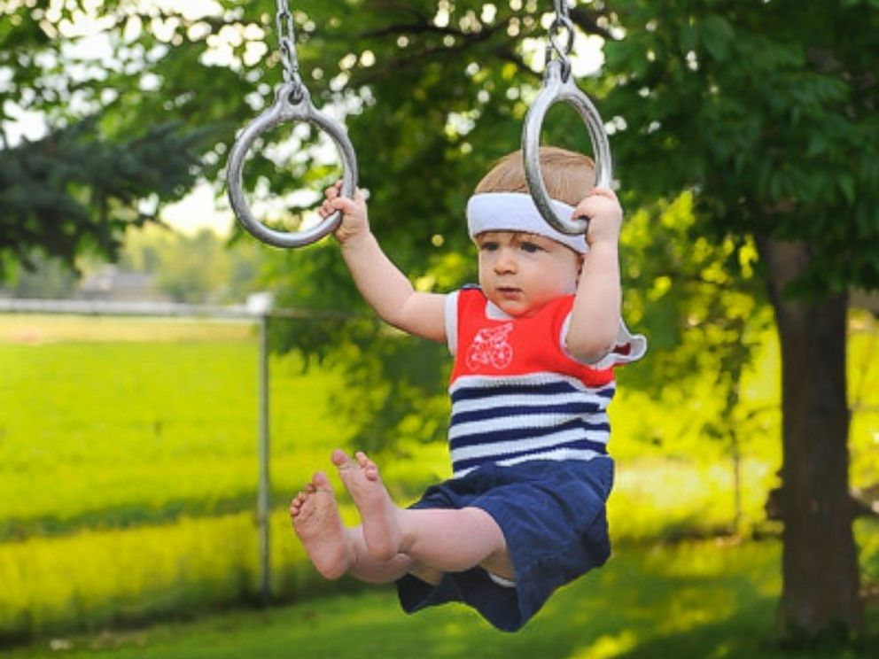 PHOTO: Rockwell Lawrence, 1, of Paradise, Utah, was photographed by his dad, Alan Lawrence, playing Olympic sports.