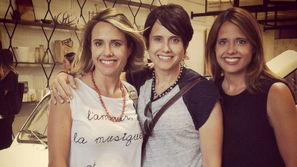 Leanna Creel, center, poses with her sisters Monica Lacy, and Joy Liefeld, right.