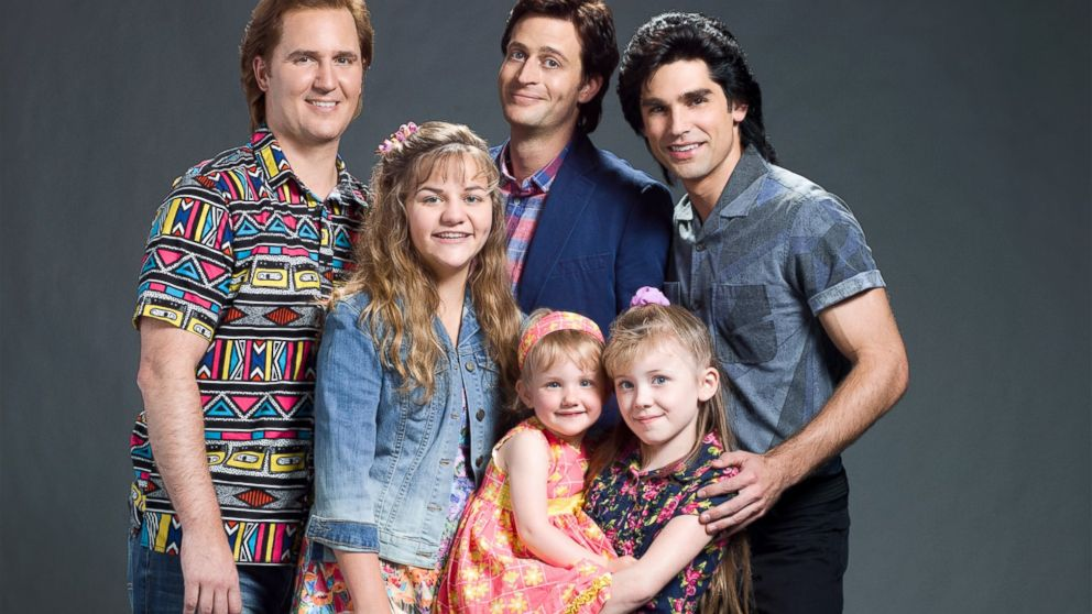 "Justin Mader (""Joey Gladstone""), Shelby Armstrong (""DJ Tanner""), Garrett Brawith (""Danny Tanner""), Justin Gaston (""Jesse Katsopolis""), Blaise Todd (""Michelle Tanner"") and Dakota Guppy (""Stephanie Tanner"") star in the all-new Lifetime movie, The Unauthorized Full House Story, premiering Saturday, August 22, at 8pm ET/PT."