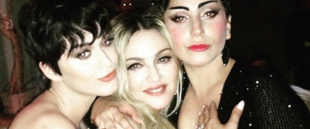 Madonna lady gaga and katy perry pose at met gala abc news photo katy perry posted this photo of herself madonna and lady gaga to instagram m4hsunfo