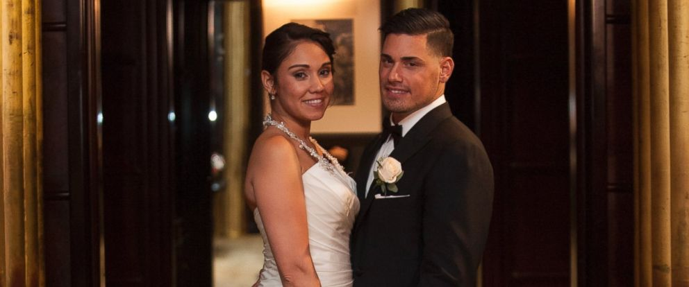 "PHOTO: Jessica Castro and Ryan De Nino of A&Es ""Married at First Sight"" are seen here."