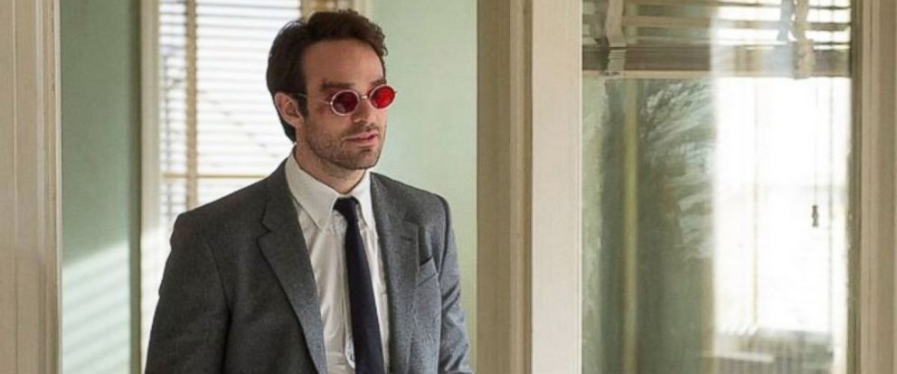 "PHOTO: Marvel posted this photo to their Instagram on Oct. 11, 2014 with the caption, ""Youre looking at the first official photos of Charlie Cox as Matt Murdock in #Marvels #Daredevil, coming to@Netflix."""