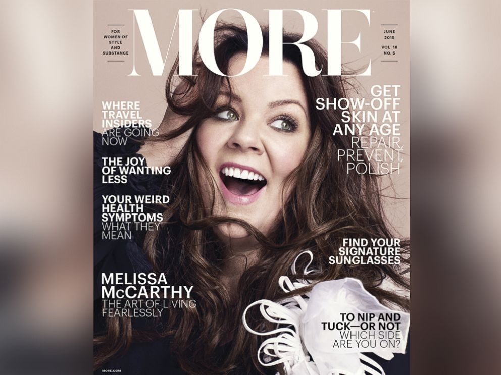 PHOTO: Melissa McCarthy in More Magazines June issue.
