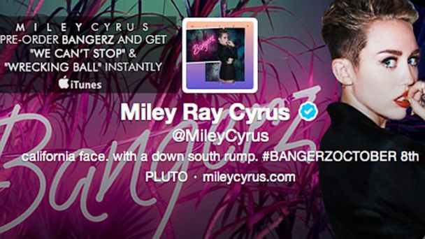 PHOTO: A screenshot of Miley Cyrus Twitter feed header, Sept. 16, 2013.
