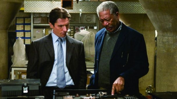 PHOTO: Still of Morgan Freeman and Christian Bale in Batman Begins (2005)