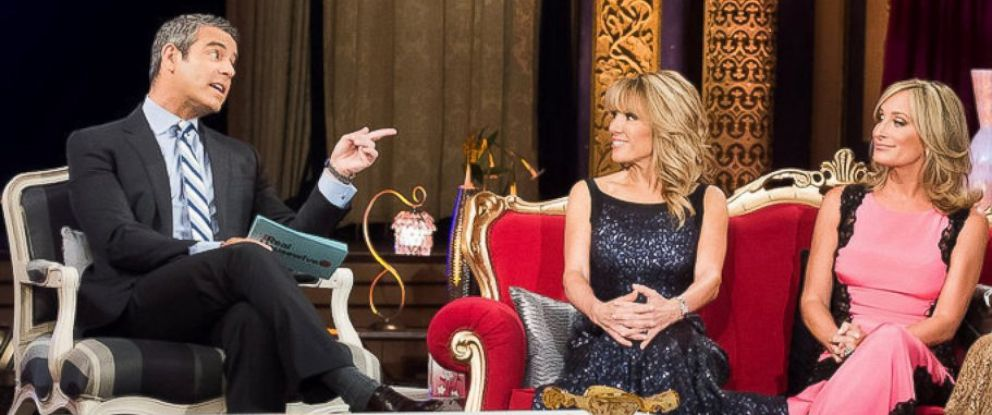 PHOTO: Andy Cohen, left, Ramona Singer and Sonja Morgan are seen during The Real Housewives of New York City reunion.