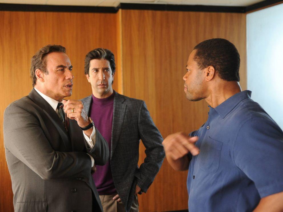 PHOTO:John Travolta as Robert Shapiro, David Schwimmer as Robert Kardashian, Cuba Gooding, Jr. as O.J. Simpson in a scene from The People v. O.J. Simpson: American Crime Story.