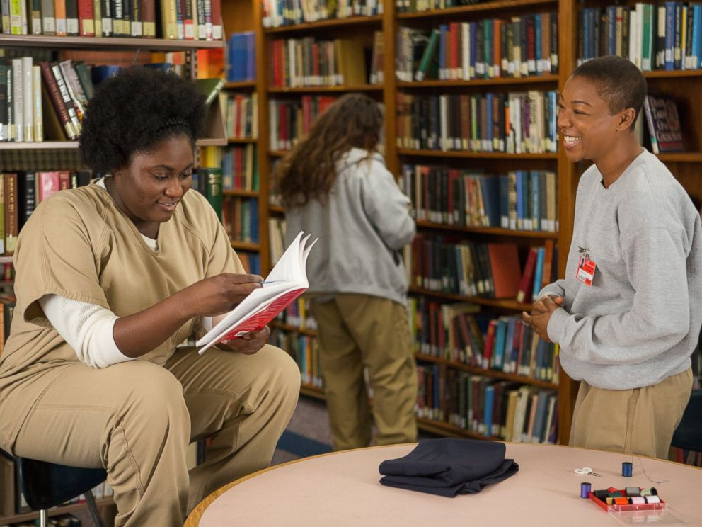 PHOTO: Danielle Brooks, left, and Samira Wiley, right, in a scene from season 2 of Orange is the New Black.