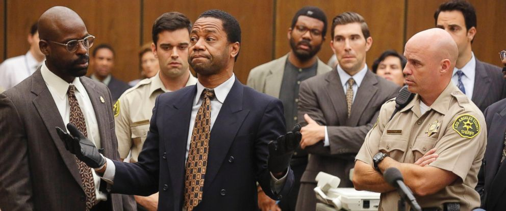 PHOTO: Sterling K. Brown as is seen here as Christopher Darden and Cuba Gooding, Jr. as O.J. Simpson in The People v. O.J. Simpson.