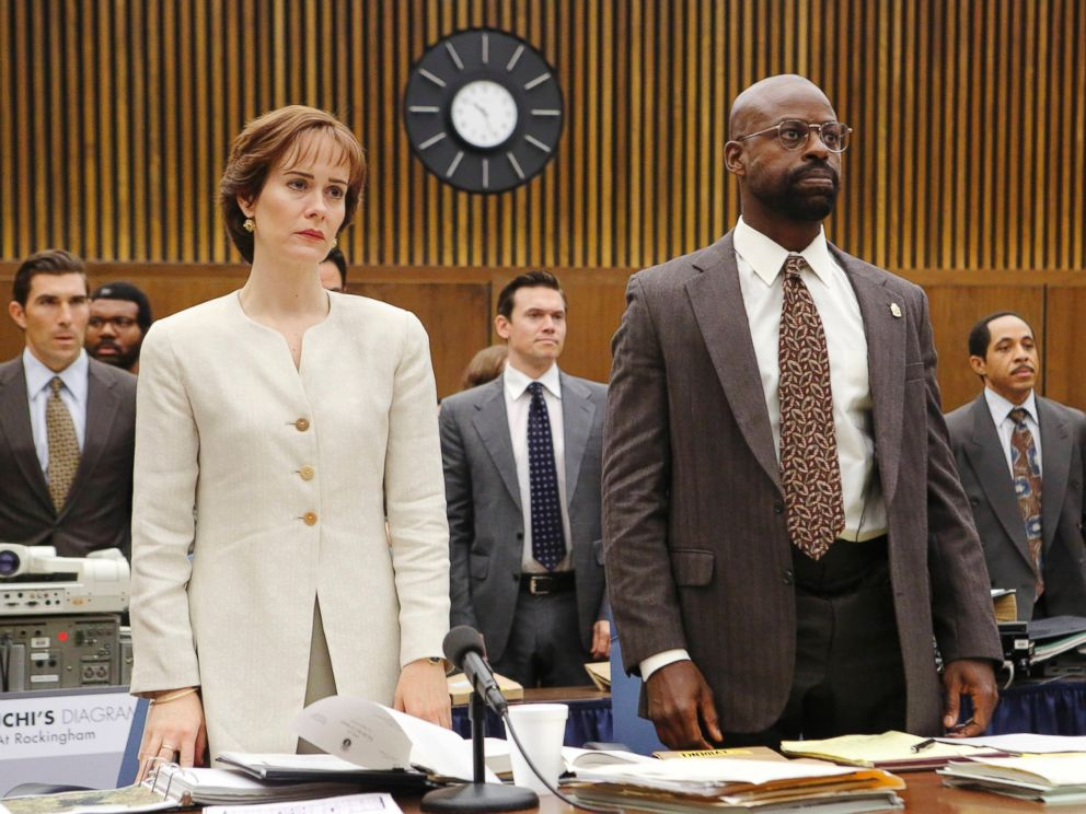 PHOTO: Sarah Paulson as seen here as Marcia Clark and Sterling K. Brown as Christopher Darden in this image from The People v. O.J. Simpson.