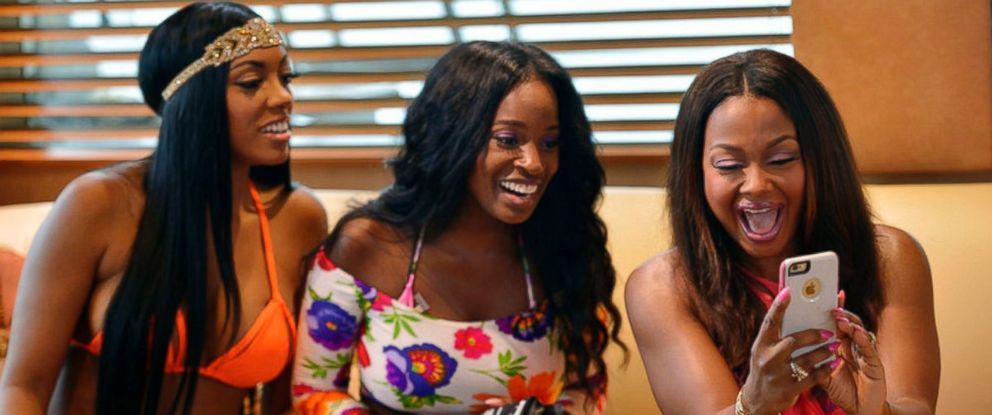 "PHOTO: Porsha Williams, Shamea Morton, Phaedra Parks Nida, right, in a scene from ""The Real Housewives of Atlanta."""