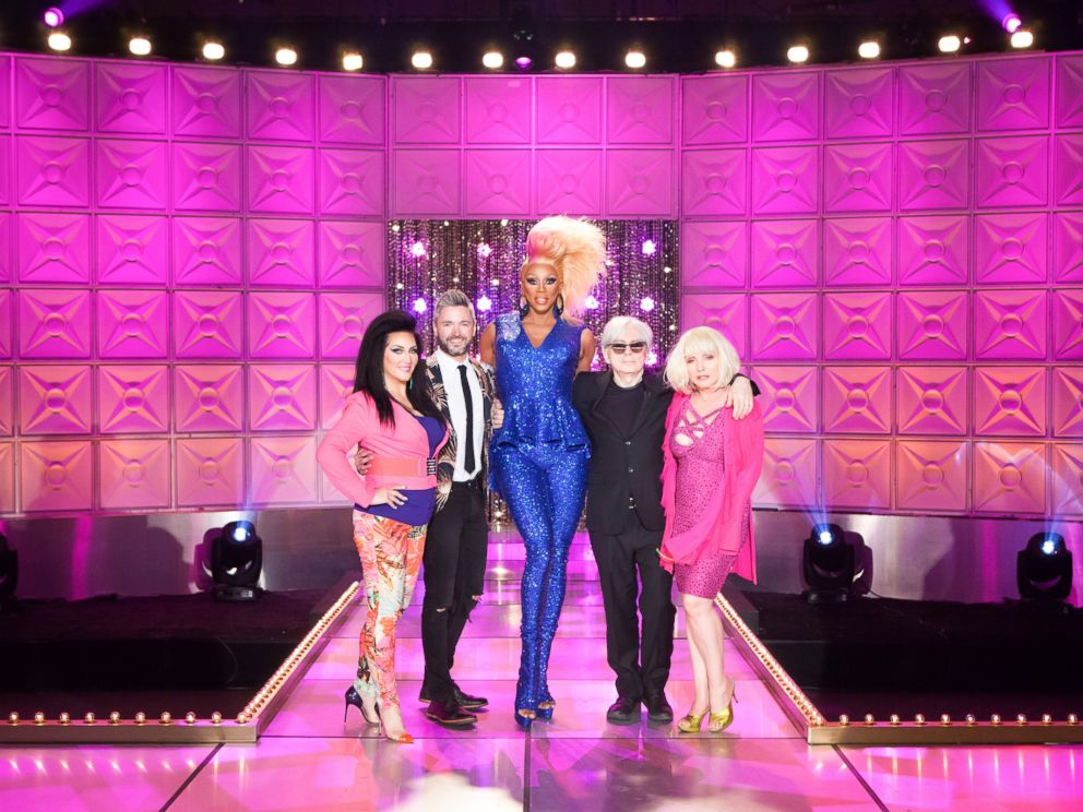 PHOTO: RuPaul, center, is seen here from RuPauls Drag Race, Season 8.