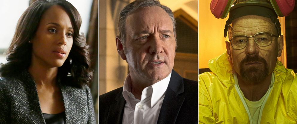 """PHOTO: Scenes from """"Scandal,"""" left, """"House of Cards"""" and """"Breaking Bad."""""""