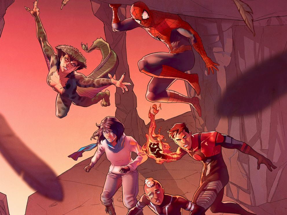PHOTO: Spiderman Teams up with Captain America in new comic series.
