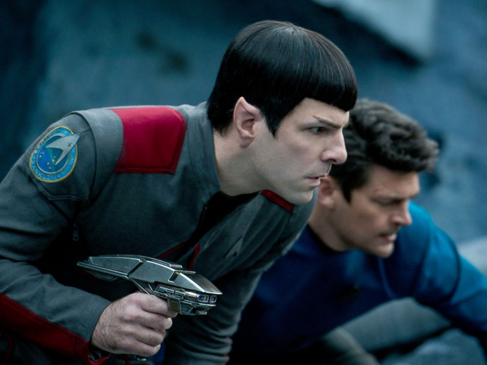 PHOTO: Zachary Quinto, left, as Spock and Karl Urban as Bones in Star Trek Beyond.