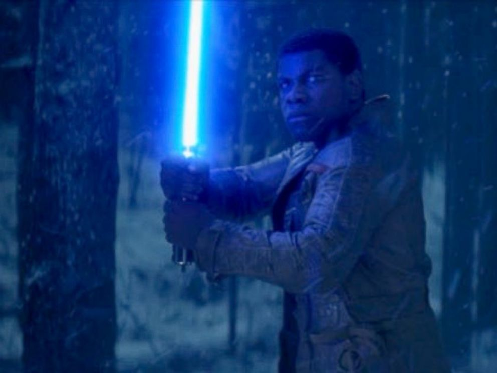 PHOTO: Scene from the new movie Star Wars: The Force Awakens.