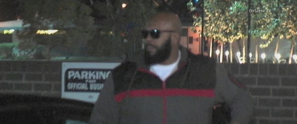 "PHOTO: ""Suge"" Knight arrives at the Los Angeles Sheriffs Departments West Hollywood station for an investigation into a deadly hit-and-run crash, Jan. 30, 2015."